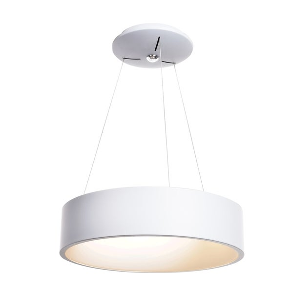 Access Lighting Radiant LED White Pendant with Acrylic Lens Diffuser