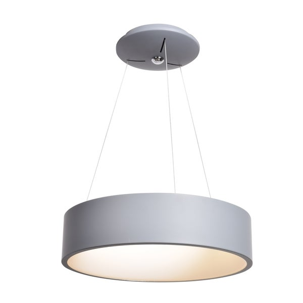 Access Lighting Radiant LED Gray Pendant with Acrylic Lens Diffuser