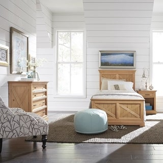 Country Lodge Twin Bed, Night Stand & Chest - N/A