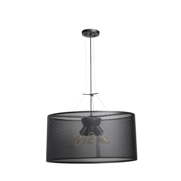 Access Lighting Epic 24-inch Black Round Pendant