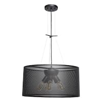 Access Lighting Epic LED 20-inch Black Round Pendant