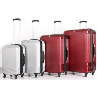 Triforce Alpine 4-Piece Hardside Spinner Upright Luggage Set (2 options available)