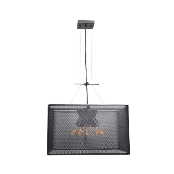 Access Lighting Epic 20-inch Black Square Pendant