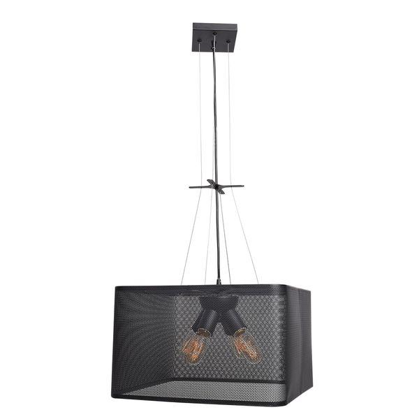 Access Lighting Epic LED 16-inch Black Square Pendant