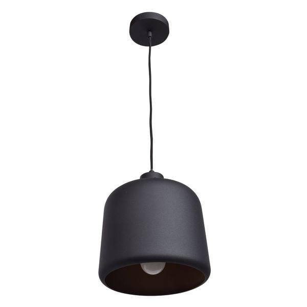 Access Lighting Nostalgia 1-light Square Dome Pendant with Matte Black Outer/Matte Gold Inner Shade