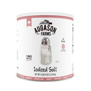 Augason Farms Iodized Salt 104 oz No. 10 Can