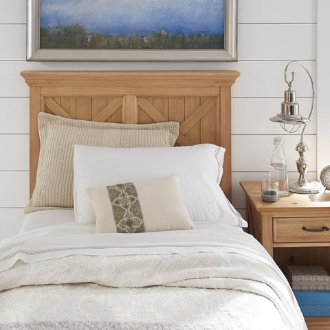 Country Lodge Twin Headboard & Night Stand - N/A
