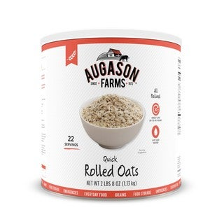 Augason Farms Quick Rolled Oats 40 oz #10 Can