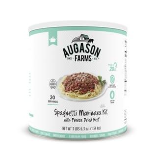 Augason Farms Spaghetti Marinara with Freeze Dried Beef 48 oz #10 Can https://ak1.ostkcdn.com/images/products/16048842/P22437315.jpg?impolicy=medium