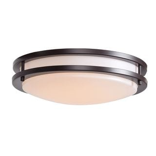 Access Lighting Solero CFL 14-inch Bronze Flush Mount with Acrylic Lens Diffuser