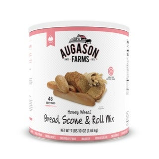 Augason Farms Honey Wheat Bread, Scone & Roll Mix 3 lbs 10 oz No. 10 Can