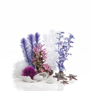 biOrb Pink Ocean Aquarium Decor Set