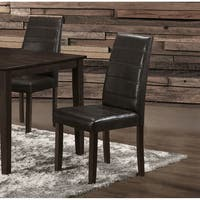 Solid Wood Brown Polyurethane Dining Chairs (Set of 2)