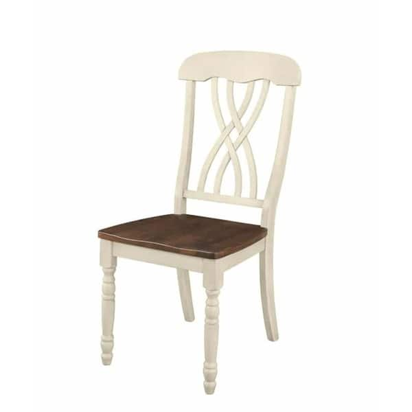 Miraculous Shop Traditional Country Style Off White Oak Dining Chairs Pabps2019 Chair Design Images Pabps2019Com