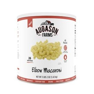 Augason Farms Elbow Macaroni Pasta 50 oz #10 Can