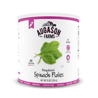 Augason Farms Dehydrated Spinach Flakes 8 oz #10 Can|https://ak1.ostkcdn.com/images/products/16048909/P22437476.jpg?impolicy=medium