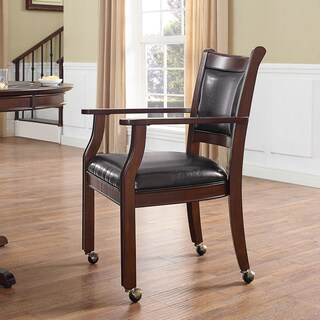 Crosley Furniture Reynolds Rustic Mahogany Game Chair (Set of 2)