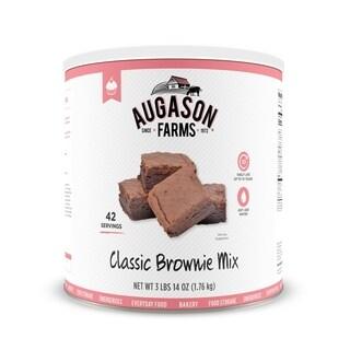 Augason Farms Classic Chocolate Brownie Fudge Mix 62 oz #10 Can