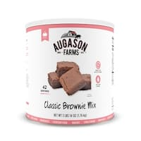 Augason Farms Classic Chocolate Brownie Fudge Mix 62 oz No. 10 Can