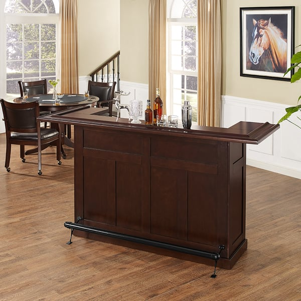 Brown Wood Rustic Home Bar Free Shipping Today