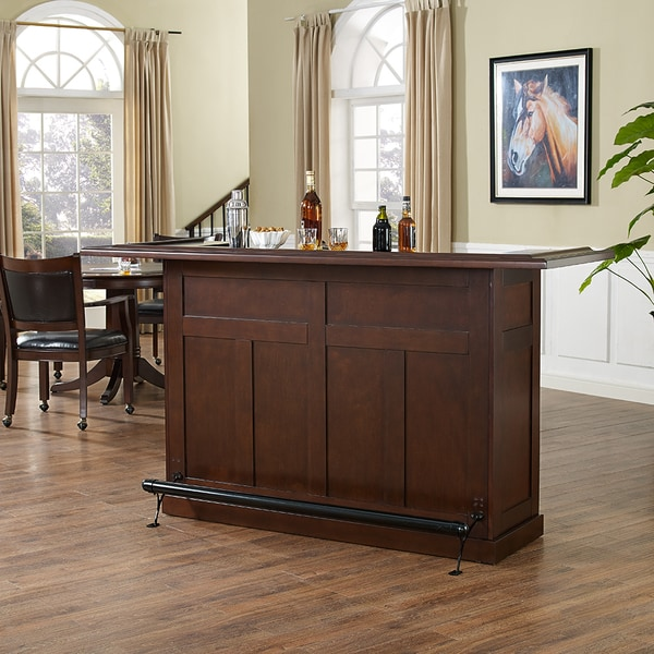 crosley furniture brown wood rustic home bar free shipping today