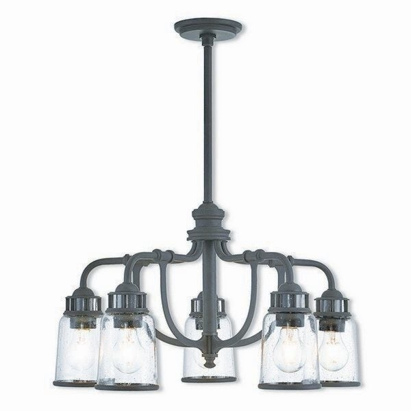 Livex Lighting 40025-07 Lawrenceville Bronze 5-Light Indoor Chandelier