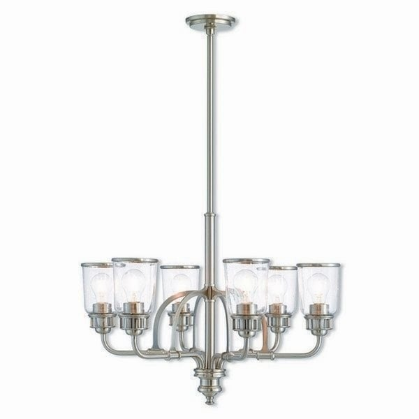 Livex Lighting 40026-91 Lawrenceville Brushed Nickel Steel Indoor 6-light Chandelier