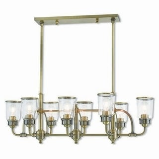 Livex Lighting 40028-01 Lawrenceville Antique Brass 8-light Indoor Chandelier