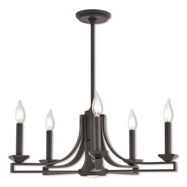Livex Lighting Trumbull Bronze-finished Steel 6-light Indoor Chandelier