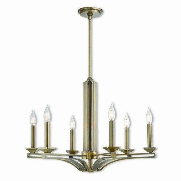 Livex Lighting Trumbull 6-light Antique Brass Indoor Chandelier