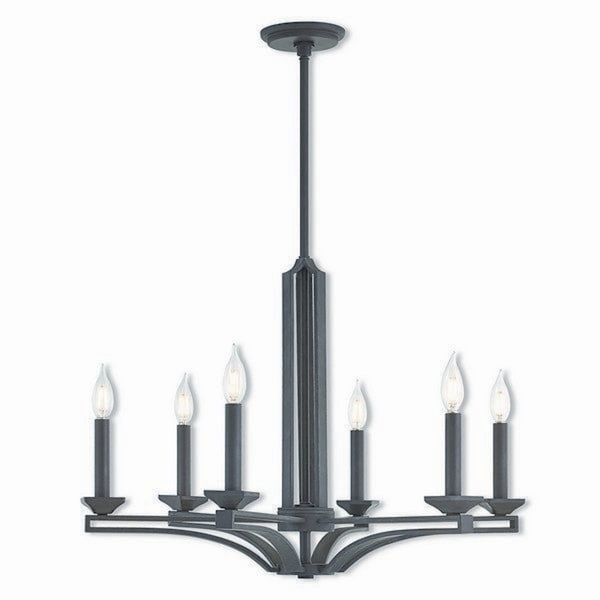 Livex Lighting 40056-07 Trumbull Bronze Finish Steel Indoor 6-light Chandelier