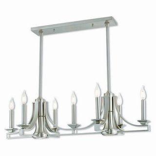 Livex Lighting 40057-91 Trumbull Brushed Nickel 9-light Indoor Chandelier