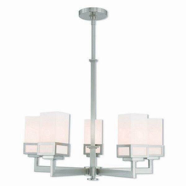 Livex Lighting 40195-91 Brushed Nickel Steel Harding 5-light Indoor Chandelier