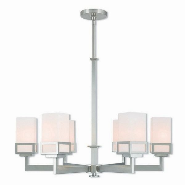 Livex Lighting 40196-91 Harding Brushed Nickel 6-light Indoor Chandelier