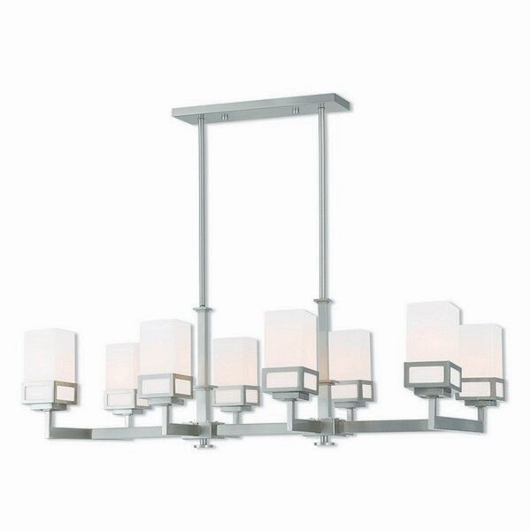 Livex Lighting 40198-91 Harding Brushed Nickel 8-light Indoor Chandelier