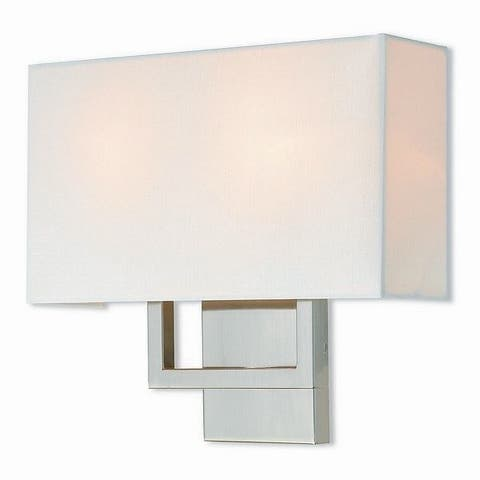 Livex Lighting 50990-91 Pierson Brushed Nickel 2-light Wall Sconce - Silver