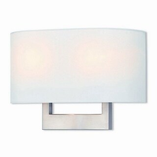 Livex Lighting Hayworth 2-light Brushed Nickel Wall Sconce