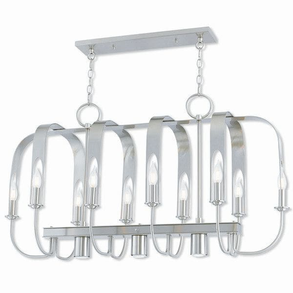 Livex Lighting 51940-91 Addison Brushed Nickel 13-light Indoor Chandelier