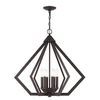 Livex Lighting Prism Bronze-finished Steel 6-light Indoor Chandelier