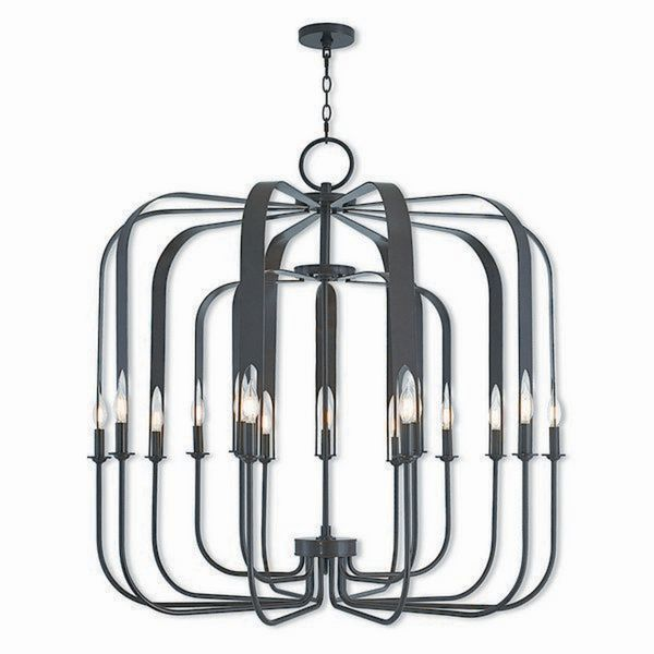 Livex Lighting 51949-92 Addison Bronze Steel 15-light Indoor Chandelier