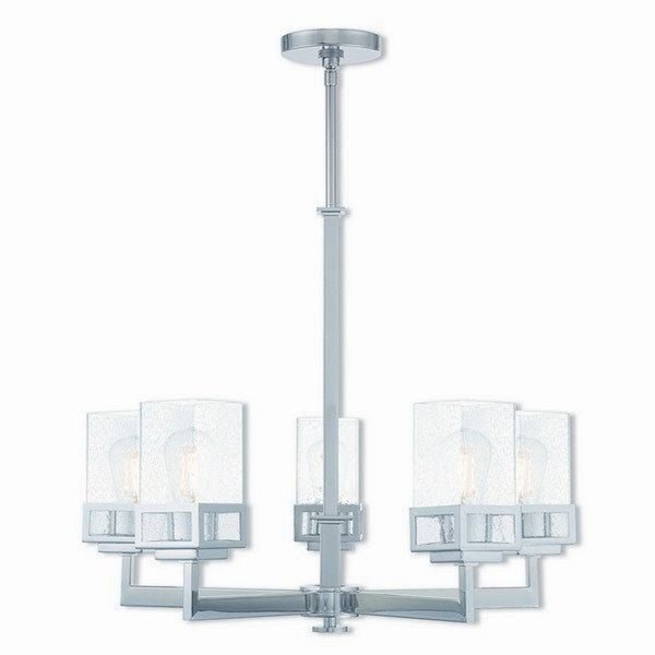 Livex Lighting Harding 5-light Polished Chrome Indoor Chandelier
