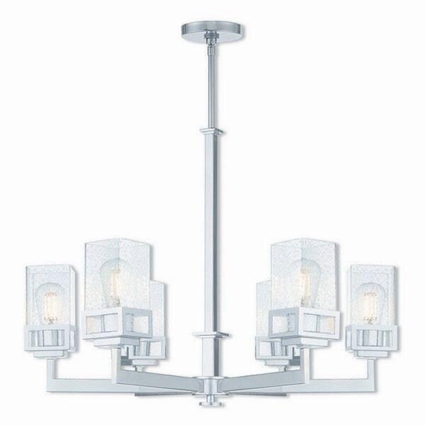 Livex Lighting 40596-05 Harding Polished Chrome Steel Indoor 6-light Chandelier