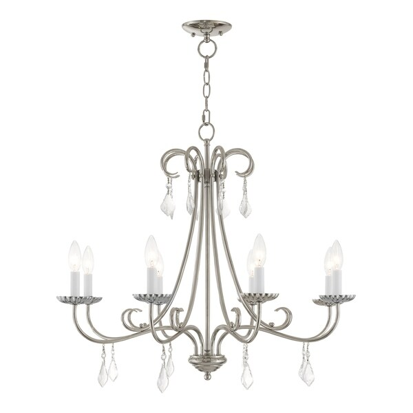 Livex Lighting 40878-05 Daphne 8 light Polished Chrome Indoor Chandelier