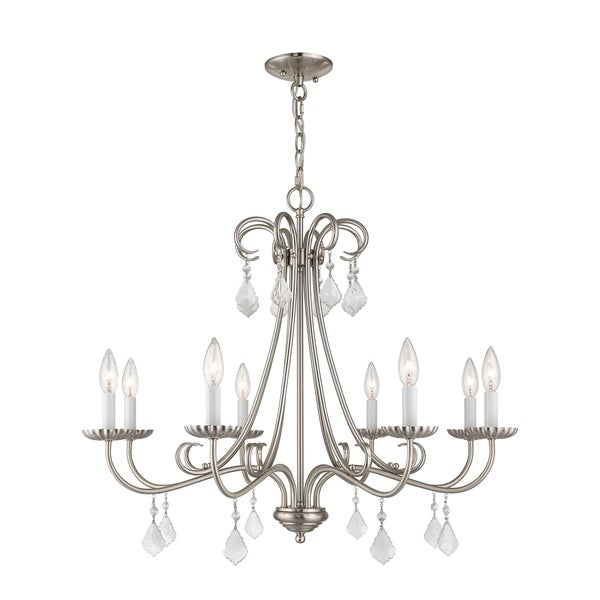 Livex Lighting 40878-91 Daphne 8 light Brushed Nickel Indoor Chandelier