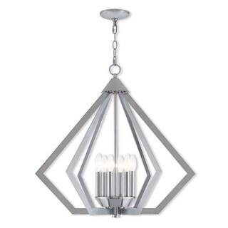 Livex Lighting 40926-05 Polished Chrome Steel Prism 6-light Indoor Chandelier