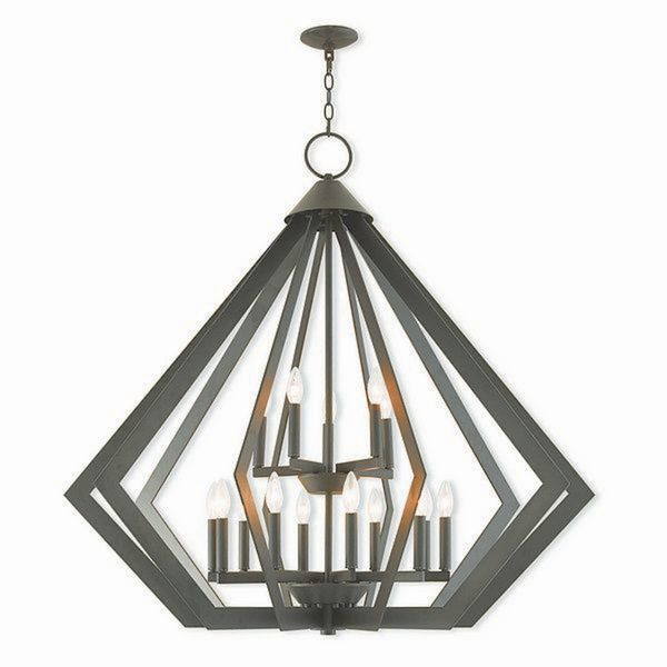 Livex Lighting Prism Bronze-finished Steel 15-light Indoor Chandelier