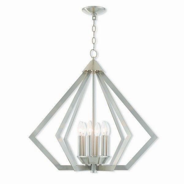Livex Lighting 40926-91 PrismBrushed Nickel 6-light Indoor Chandelier