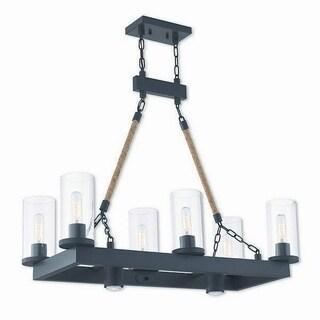 Livex Lighting 41066-07 Metuchen Bronze Finish Steel Indoor 8-light Chandelier