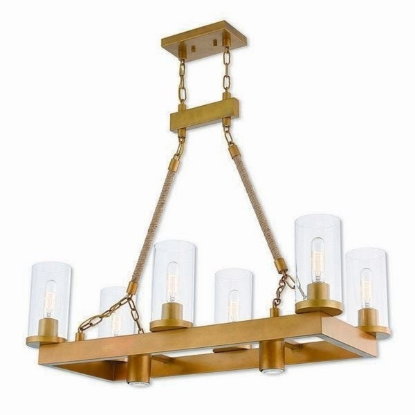 Livex Lighting 41066-26 Metuchen Aged Goldtone Finish Steel Indoor 8-light Chandelier