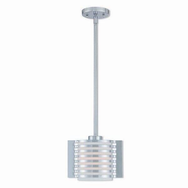 Livex Lighting 41031-05 Hilliard 1 Light Polished Chrome Indoor Mini Pendant